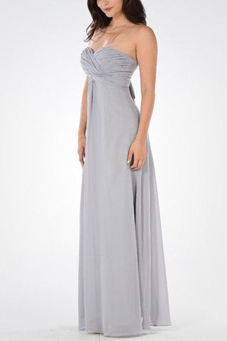 Long chiffon Bridesmaid dress BB 097-880 - Simply Fab Dress