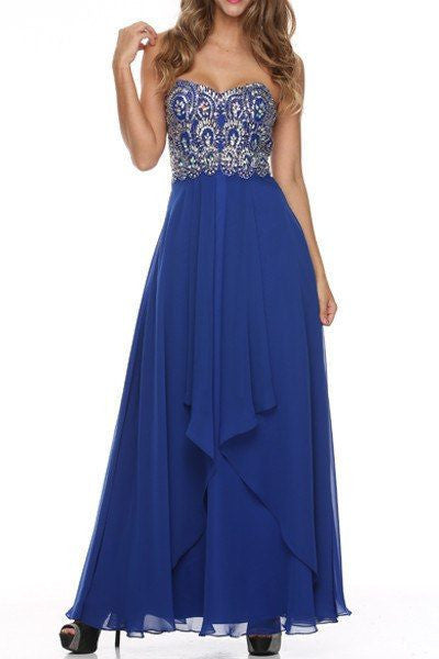 Strapless Sweetheart Long Bridesmaid Dress 105-541 Prom dress Bridesmaid dress - Simply Fab Dress