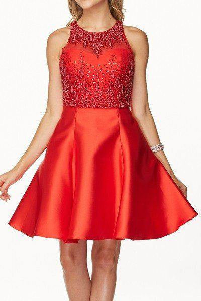 Detachable Lace  Top Cocktail Homecoming 2016 dress 105-774 - Simply Fab Dress