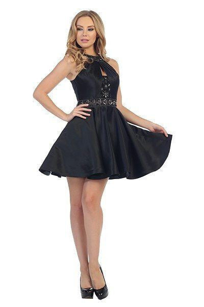 Halter Top Cocktail Homecoming 2016 107-6015 - Simply Fab Dress
