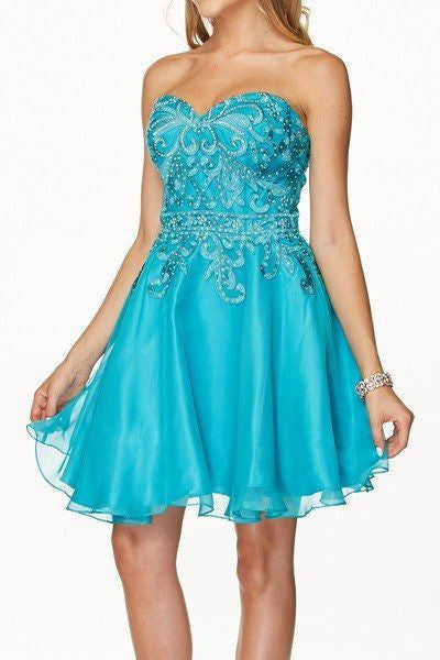 Strapless Sweetheart Cocktail Homecoming 2016 105-772 Prom dress - Simply Fab Dress