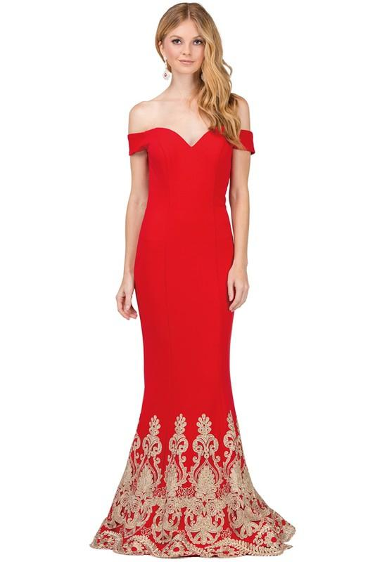 Mermaid off the shoulders prom dress DQ2263