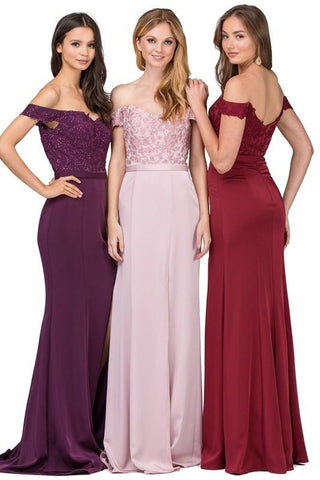 Burgundy long evening gown  GLS 1566