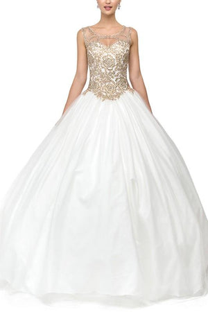 White Quinceanera Dress DQ1101W-Simply Fab Dress