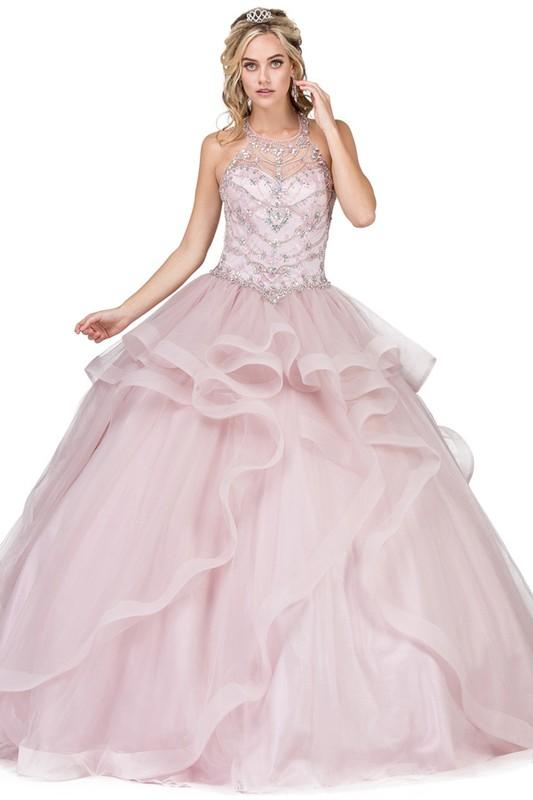 Quinceanera dress with ruffles Dq1279-Simply Fab Dress
