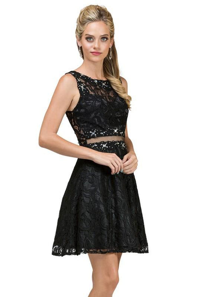 Black Short Homecoming Dress DQ2053-Simply Fab Dress