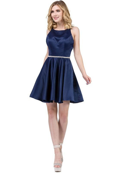 Satin Homecoming Dress-Simply Fab Dress