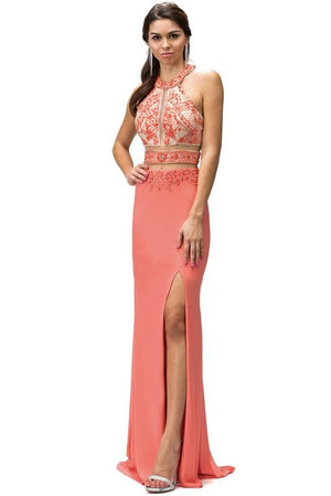 Sexy prom dress with slit Dq9188-Simply Fab Dress