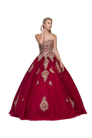 Two piece quinceanera prom ball gown dress gls2250