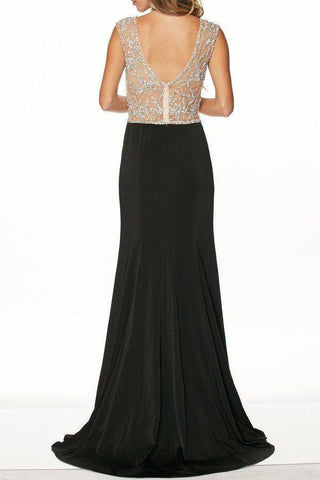 Elegant cap sleeve Evening gown dress 105-648 plus size - Simply Fab Dress