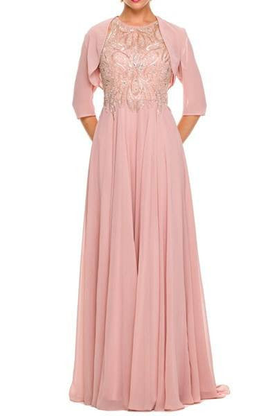 Plus size long chiffon evening dress - juliet 584 - Simply Fab Dress