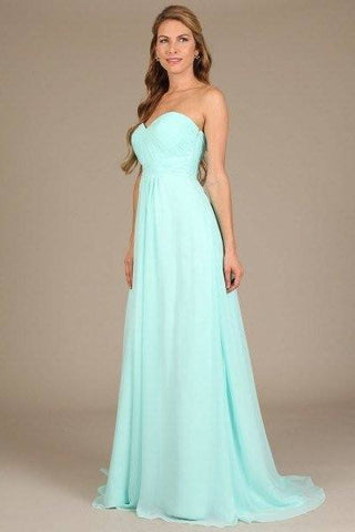 Strapless long chiffon cheap bridesmaid dress #MF0272 - Simply Fab Dress