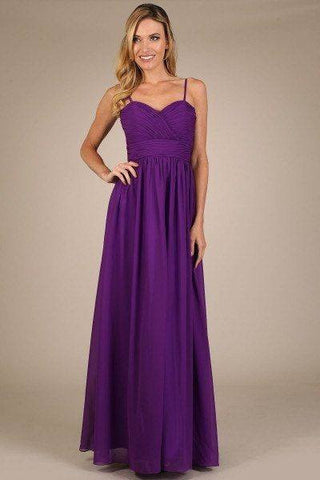Beautiful long chiffon cheap bridesmaid dress MF-ny0308 - Simply Fab Dress