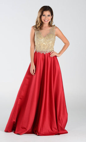 Scoop neckline trendy a-line ball gown formal dress BC# MD2016747