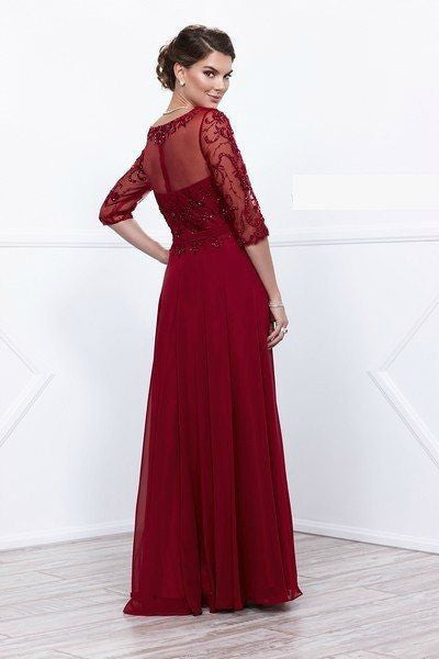 Elegant 3/4 sleeve Long evening dress  BB#nox5045 - Simply Fab Dress