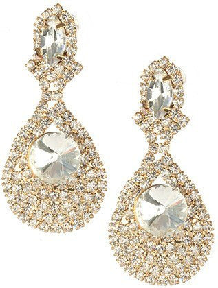 Gorgeous fashion earrings MME24752 GDCLR - Simply Fab Dress