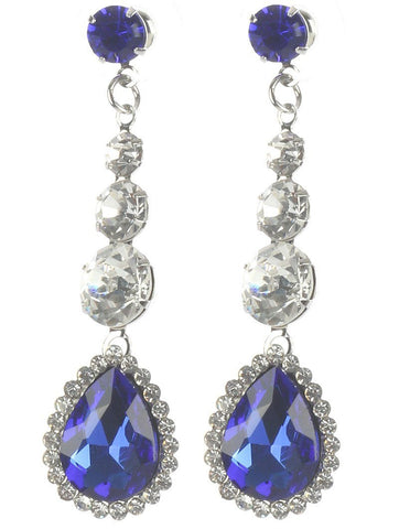 Gorgeous rhinestone fashion earrings  MME22823rdbl - Simply Fab Dress