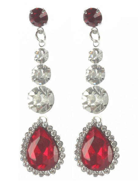 Gorgeous rhinestone fashion earrings  MME22823rdbr - Simply Fab Dress
