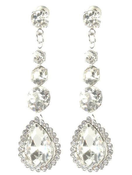 Gorgeous rhinestone fashion earrings  MME22823rdcl - Simply Fab Dress