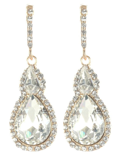 Gorgeous rhinestone fashion earrings  MME24543gdcl - Simply Fab Dress