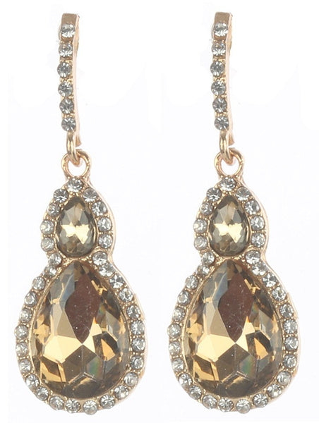 Gorgeous rhinestone fashion earrings  MME24543gdlc - Simply Fab Dress