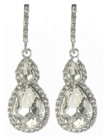 Gorgeous rhinestone fashion earrings  MME24543rdcl - Simply Fab Dress