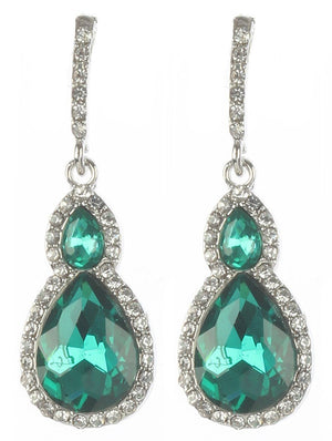 Gorgeous rhinestone fashion earrings  MME24543rdgr - Simply Fab Dress