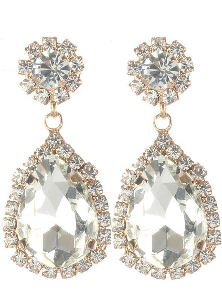 Gorgeous rhinestone fashion earrings  MME24688gdcl - Simply Fab Dress