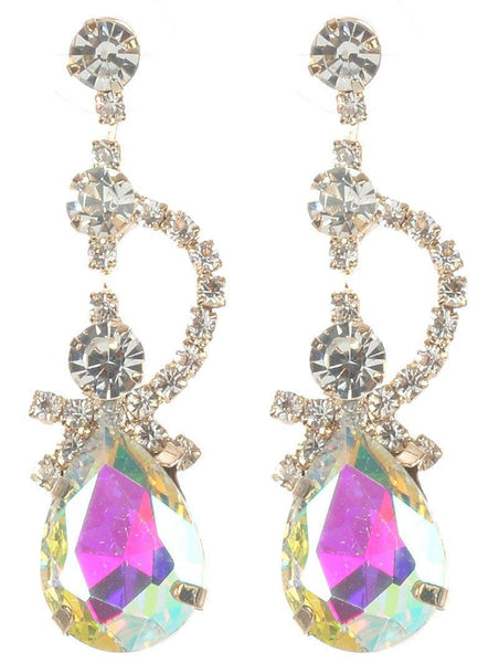 Gorgeous rhinestone fashion earrings  MME24689gdab - Simply Fab Dress