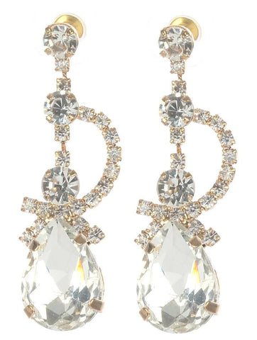 Gorgeous rhinestone fashion earrings  MME24689gdcl - Simply Fab Dress