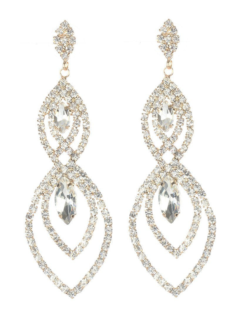 Gorgeous rhinestone fashion earrings  MME24691gdcl - Simply Fab Dress