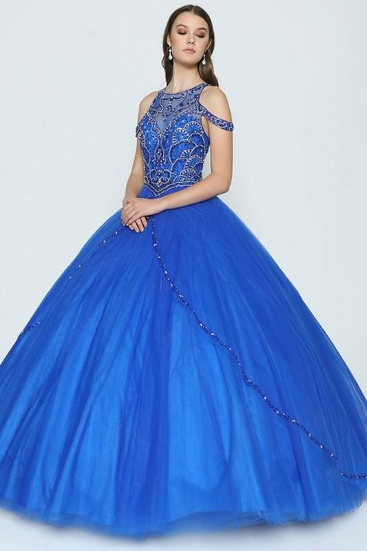 Royal blue quinceanera dress JL370-Simply Fab Dress