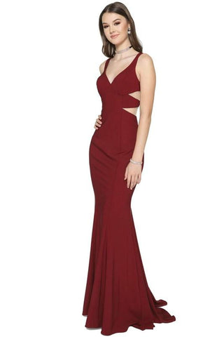 V-cut sexy formal gown jl675-Simply Fab Dress
