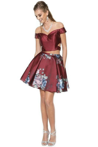 floral homecoming dresses & Trendy prom dresses lets js798