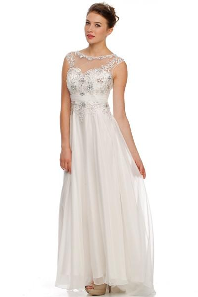 Chiffon beach wedding dress jul#552w - Simply Fab Dress