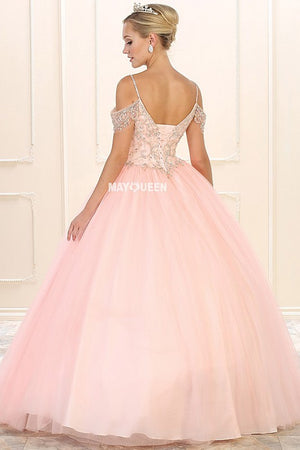 Sparkly off the shoulder quinceanera dress LK96-Simply Fab Dress