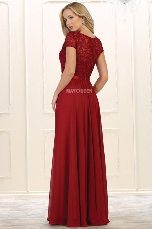 Cap sleeve Plus Size Prom Dress & Gown MQ1486 - CLOSEOUT – Simply ...