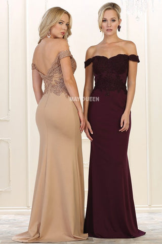 Off the shoulder evening gown & formal dress Mq 1529-Simply Fab Dress
