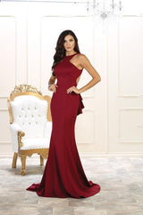 Mermaid Long party dress with sexy cut back  may queen mq1531 - Simply Fab Dress