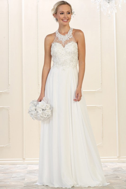 Chiffon beach wedding dress Mq1557-Simply Fab Dress