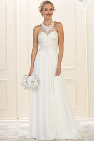 Ivory champagne wedding dress GLS 1536