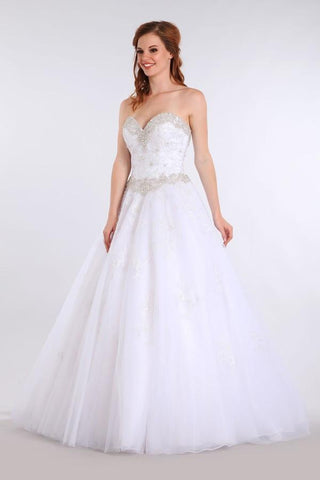 sweetheart neckline a-line ball gown wedding dress MT215 - Simply Fab Dress
