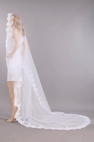 Scallop lace edge mantilla veil #vm5004-110 - Simply Fab Dress