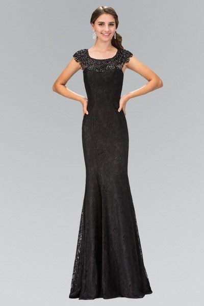 Black lace evening gown 103-GL-1394 – Simply Fab Dress