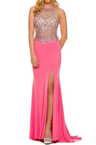 Cheap Fitted Illusion Top Pageant/Prom Gown 105-605 Prom dress - Simply Fab Dress