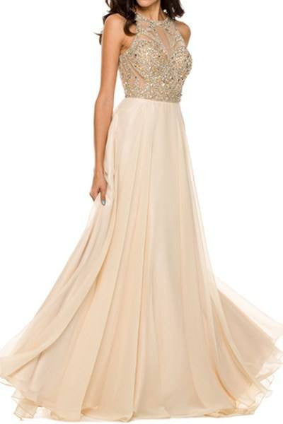 Cheap High Neck a-line Pageant/Prom Dress  105-602 Prom dress - Simply Fab Dress