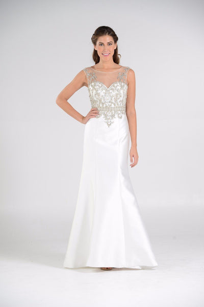 satin mermaid casual beach wedding dress pol#7738 - Simply Fab Dress