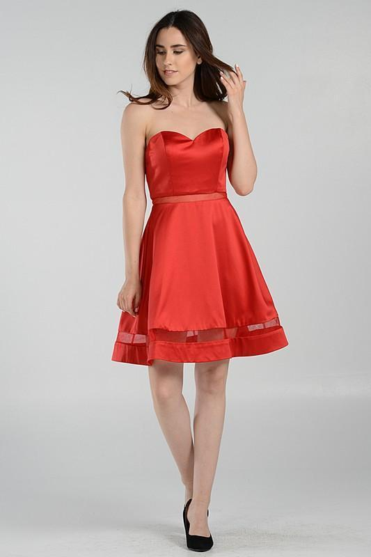 Simple homecoming dress poly #7990
