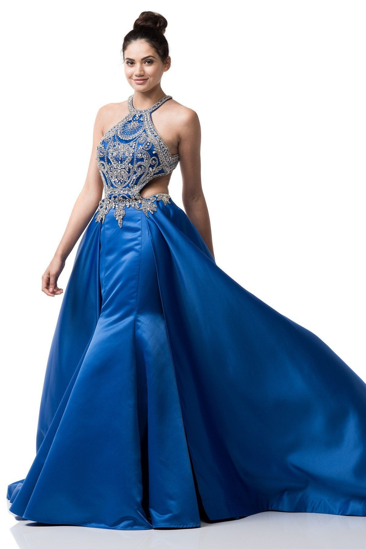 Fashion week Blue Unique prom dresses for lady