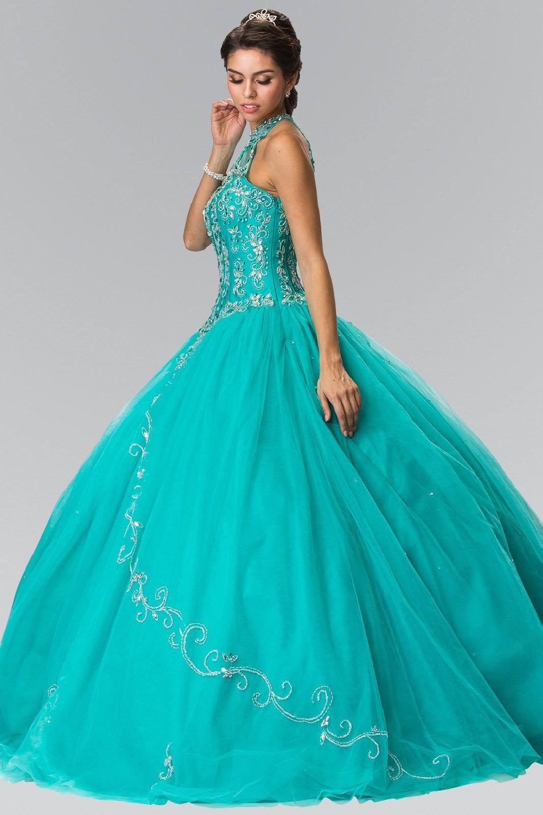 2019 year looks- Dresses turquoise for sweet 16 photo